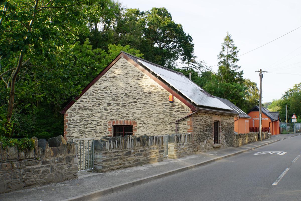 The Original stone Pwerdy-Powerhouse building.